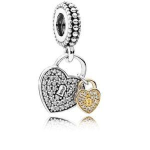 Pandora love locks charm